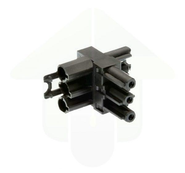 GST18/3 T-splitter – conform Wieland – 1 tot 2,5 mm² – zwart