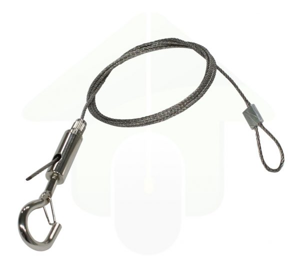 RVS verstelbare ophangkabel - 30 kg - 1 meter - 1,5 mm. - roestvrijstaal