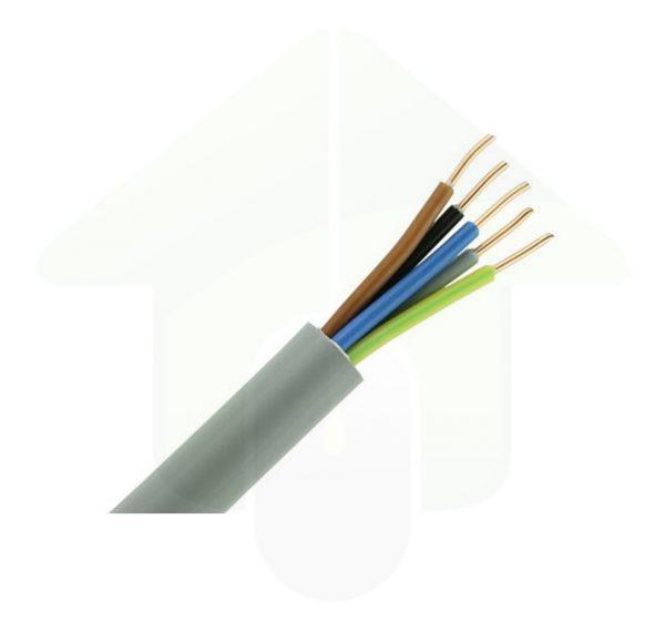 YMVK installatiekabel – 5x1,5 mm² – grijs