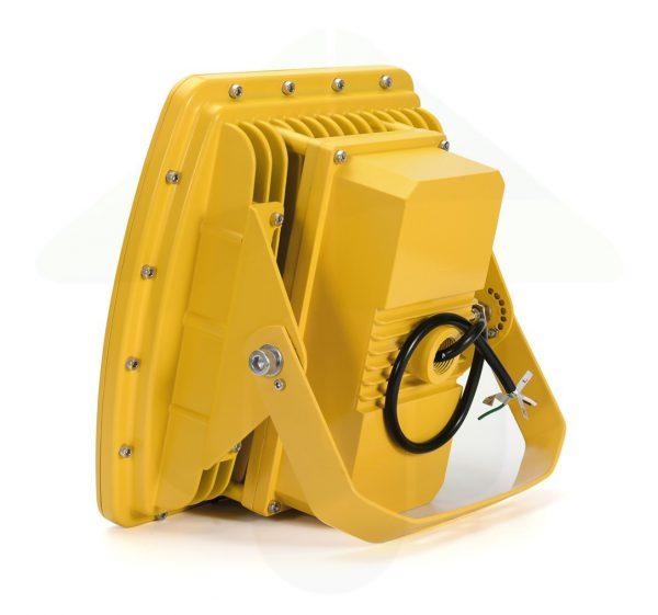 ATEX led verstraler met bevestigingsbeugel - geel