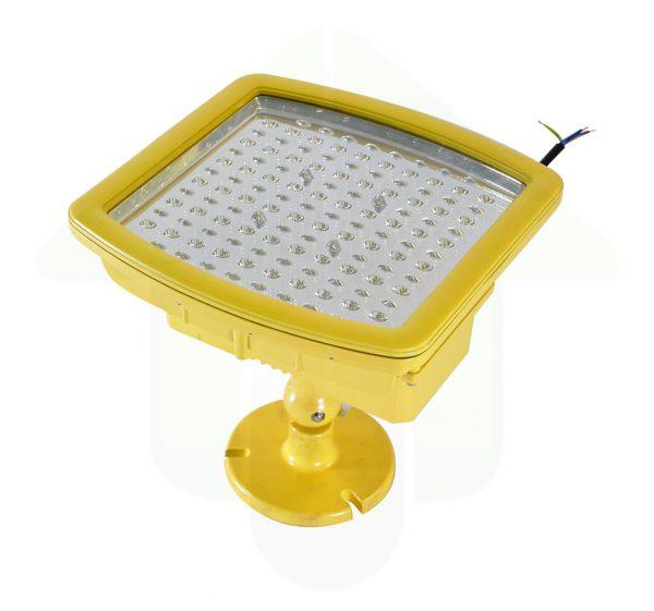 ATEX led verstraler met richtbare standaard - geel