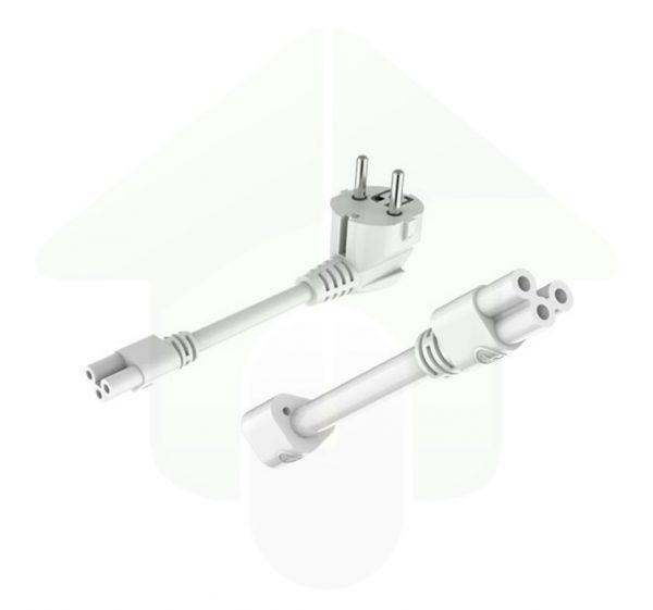 Aansluitsnoer met stekker en onderlinge kabelverbinding voor de Lumestra Easy Connect led lichtlijn armaturen
