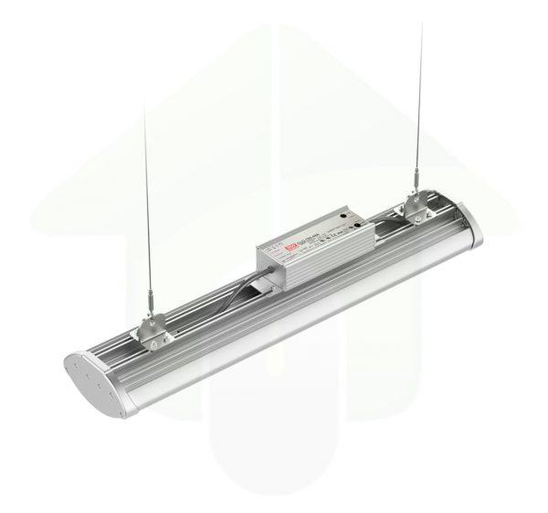 Flat-Bay - linear led high bay - 60 cm - 100W - open koelribben voor optimale warmte afvoer