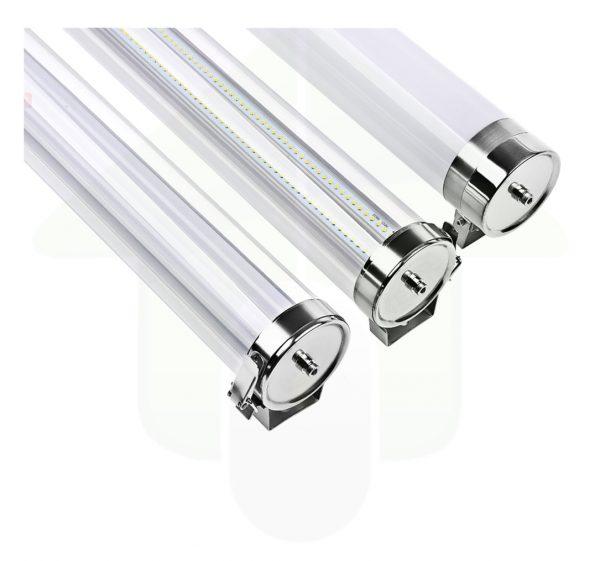 Lumestra Tri-proof IP69K-IK10 High Resistance LED - Led verlichting met RVS 316 of 304 - handige sluitklem of vaste montagebeugel
