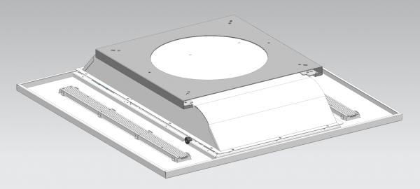 Optie frame voor plafondbevestiging