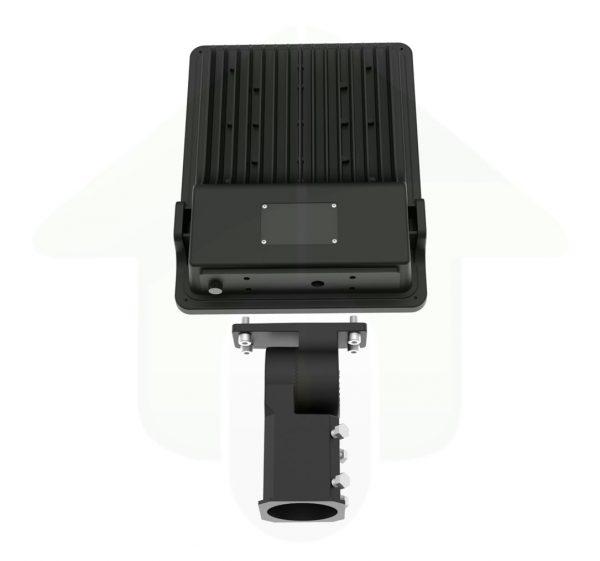 Tetra-TX Led Schijnwerper - kantelbare straatlamp adapter - voor bevestiging op lantaarnpalen en ronde masten en lamphouders