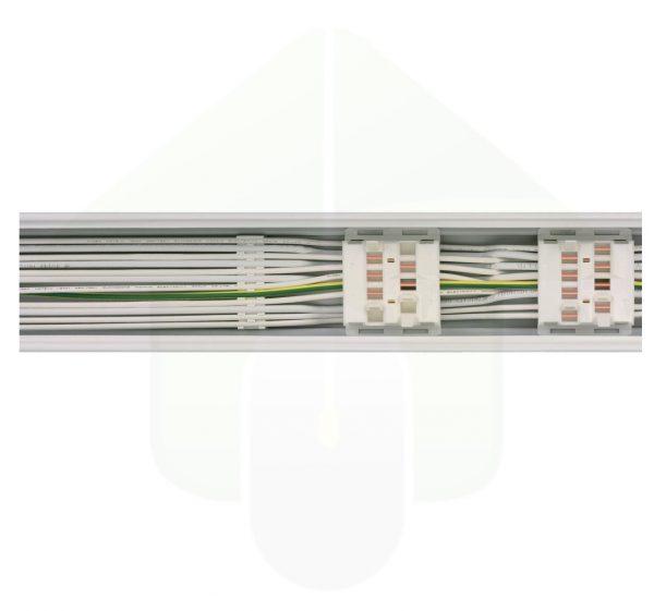 ConPhact 3570 led lichtlijnsysteem - bekabeling en stekker systeem in de rails - snelkoppeling