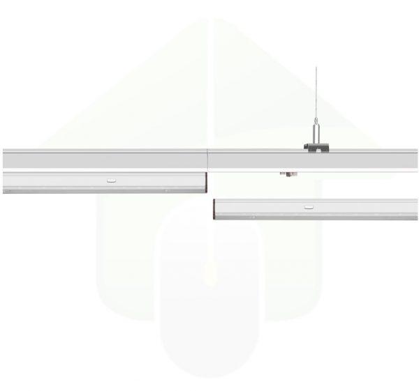 ConPhact 3570 led lichtlijn rails en led armatuur - montage voorbeeld