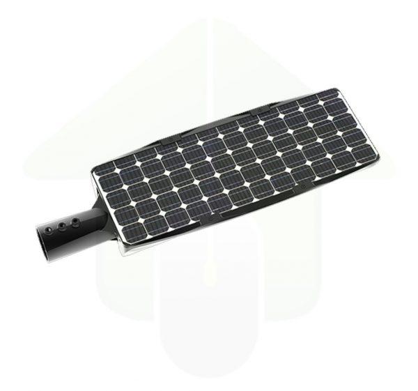 Inbouw solar zonnepaneel op de Solarics solar led buitenlamp